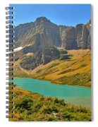 Glacier Cracker Lake Panorama Spiral Notebook