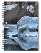 Glacier Iceberg Reflections Spiral Notebook