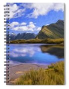 Glacier Lake On The Milford Track Spiral Notebook