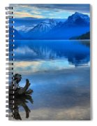 Glacier Mountain Reflections Spiral Notebook