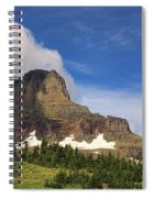 Glacier National Park At Logan Pass Spiral Notebook