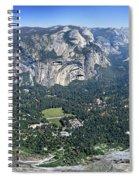 Glacier Point Panorama - Yosemite Valley Spiral Notebook