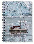 Glacier Sailing Spiral Notebook