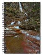 Glacier Virginia Falls Cascades Spiral Notebook