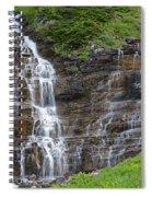 Glacier Waterfalls Spiral Notebook