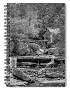 Glade Creek Grist Mill 3 Bw Spiral Notebook
