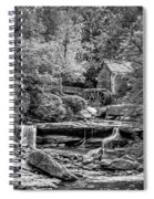 Glade Creek Grist Mill 3 - Paint 2 Bw Spiral Notebook