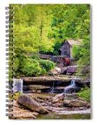 Glade Creek Grist Mill 3 - Paint Spiral Notebook