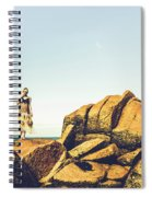 Glamour In Untouched Paradise Spiral Notebook