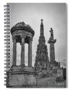 Glasgow Necropolis Graveyard Memorials Spiral Notebook