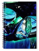 Glass Abstract 141 Spiral Notebook