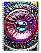 Glass Abstract 516 Spiral Notebook