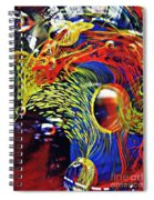 Glass Abstract 630 Spiral Notebook