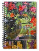 Glass And Flowers Spiral Notebook