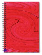 Glass And Steel Building Red Abstract Spiral Notebook