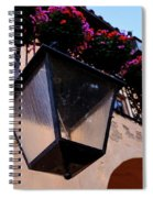Glass Light Housing With Red Flower Architecture In Saint August Spiral Notebook