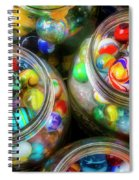 Glass Marbles In Containers Spiral Notebook