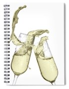 Glasses Of Champagne Spiral Notebook