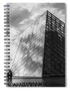 Glass Pyramid. Louvre. Paris.  Spiral Notebook