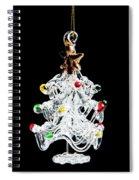 Glass Tree Decoration Spiral Notebook