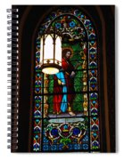 Glass Window Of Saint Philip In The Basilica In Santa Fe  Spiral Notebook