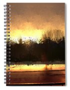 Glassy Dawn Spiral Notebook