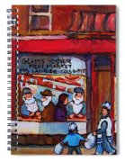 Glatts Kosher Meatmarket And Tailor Shop Spiral Notebook