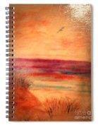 Glazed Affect Beach Scene Spiral Notebook