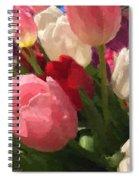 Glazed Tulip Bouquet Spiral Notebook