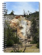 Glen Spring At Mammoth Hot Springs Upper Terraces Spiral Notebook