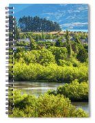 Glenorchy Lagoon At Golden Hour, New Zealand Spiral Notebook