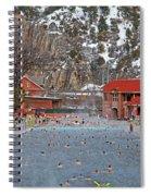 Glenwood Springs Hot Springs In Winter Spiral Notebook