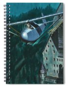 Glider Escape From Colditz Castle Spiral Notebook