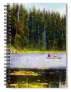 Gliding Along Spiral Notebook