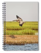 Gliding Over A Shell Island Spiral Notebook