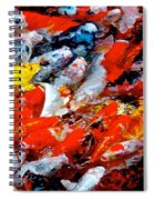 Glittering Of Koi Spiral Notebook