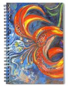 Global Lily Spiral Notebook