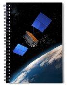 Global Positioning System Satellite In Orbit Spiral Notebook