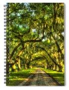 Glorious Entrance Tomotley Plantation South Carolina  Spiral Notebook