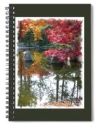 Glorious Fall Colors Reflection With Border Spiral Notebook