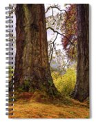 Glorious Fall In Benmore Botanical Garden. Scotland Spiral Notebook