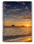 Glorious Playa Sunset Spiral Notebook
