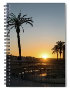 Glorious Sevillian Sunset With Palms Spiral Notebook