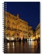 Glossy Outdoor Living Room - Passeggiata On Piazza Duomo In Syracuse Sicily Spiral Notebook