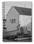 Gloucester Boathouse In Black And White Spiral Notebook
