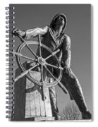 Gloucester Fisherman's Memorial Statue Black And White Spiral Notebook