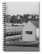 Gloucester Harbor Scene In Black And White Spiral Notebook