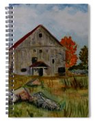 Glover Barn In Autumn Spiral Notebook