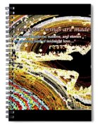Glowing Bird Of Midnight Love Spiral Notebook
