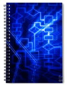 Glowing Blue Flowchart Spiral Notebook